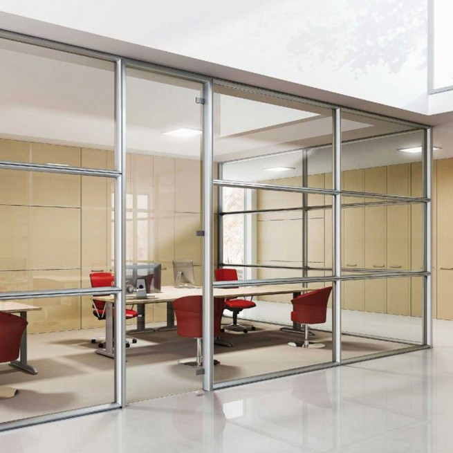Partitii birouri Ideal Form Team, Planet Evo F100 S System Partition Single Glass