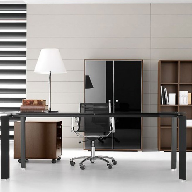 Birou executiv Ideal Form Team, Pratiko Steel Wenge