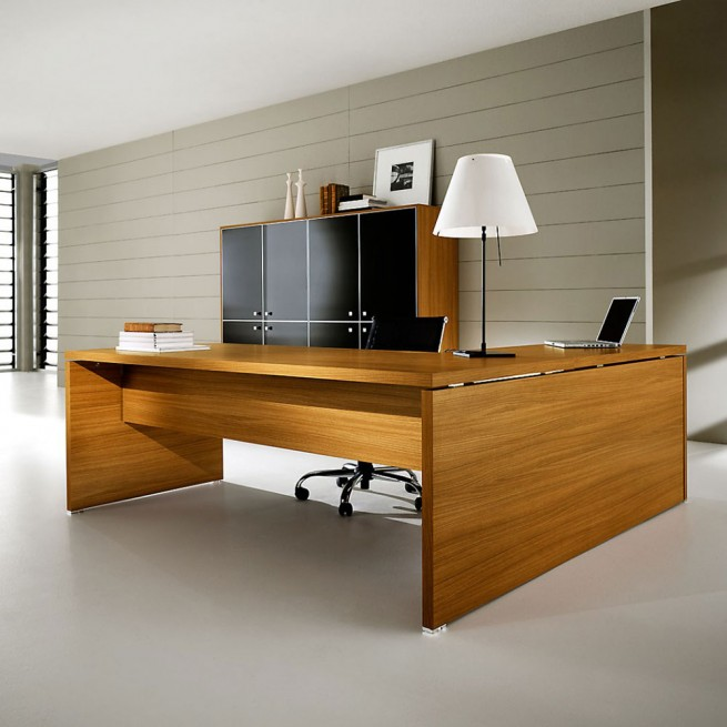 Birou executiv Ideal Form Team, Pratiko Wood Walnut