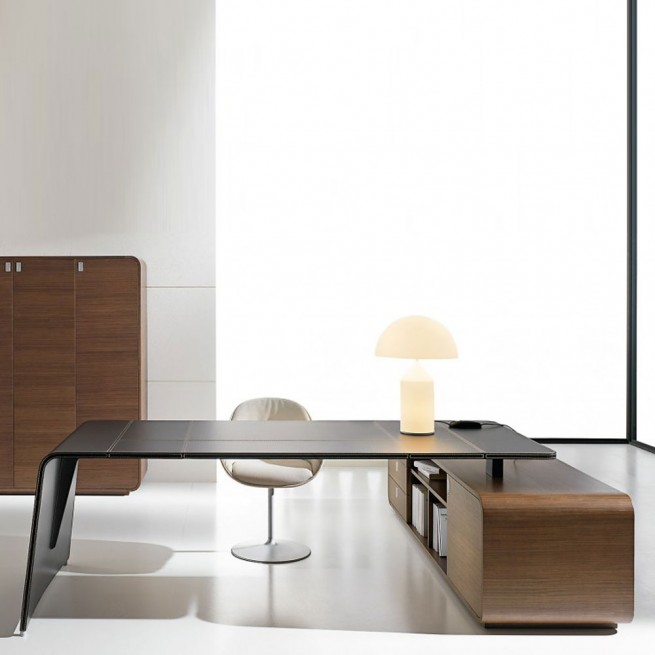 Birou executiv deal Form Team, Sestante Dark Walnut