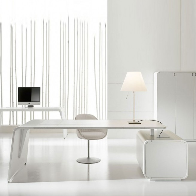 Birou executiv deal Form Team, Sestante White Lacquered