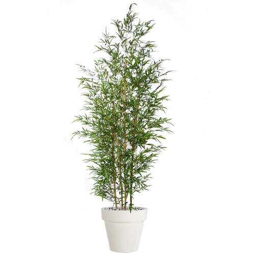 Planta semi-artificiala Ila, Bamboo Bush Green - 240 cm