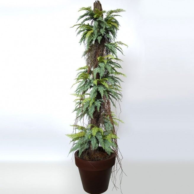 Planta semi-artificiala Ila, Fern Status on Pineapple Green - 220 cm