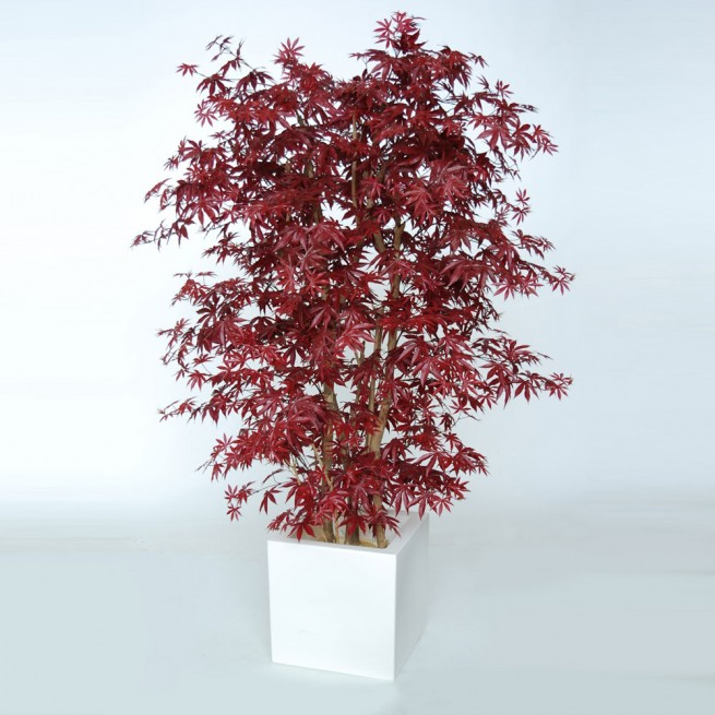 Planta semi-artificiala Ila, Maple Boschetto Burgundy - 180 cm