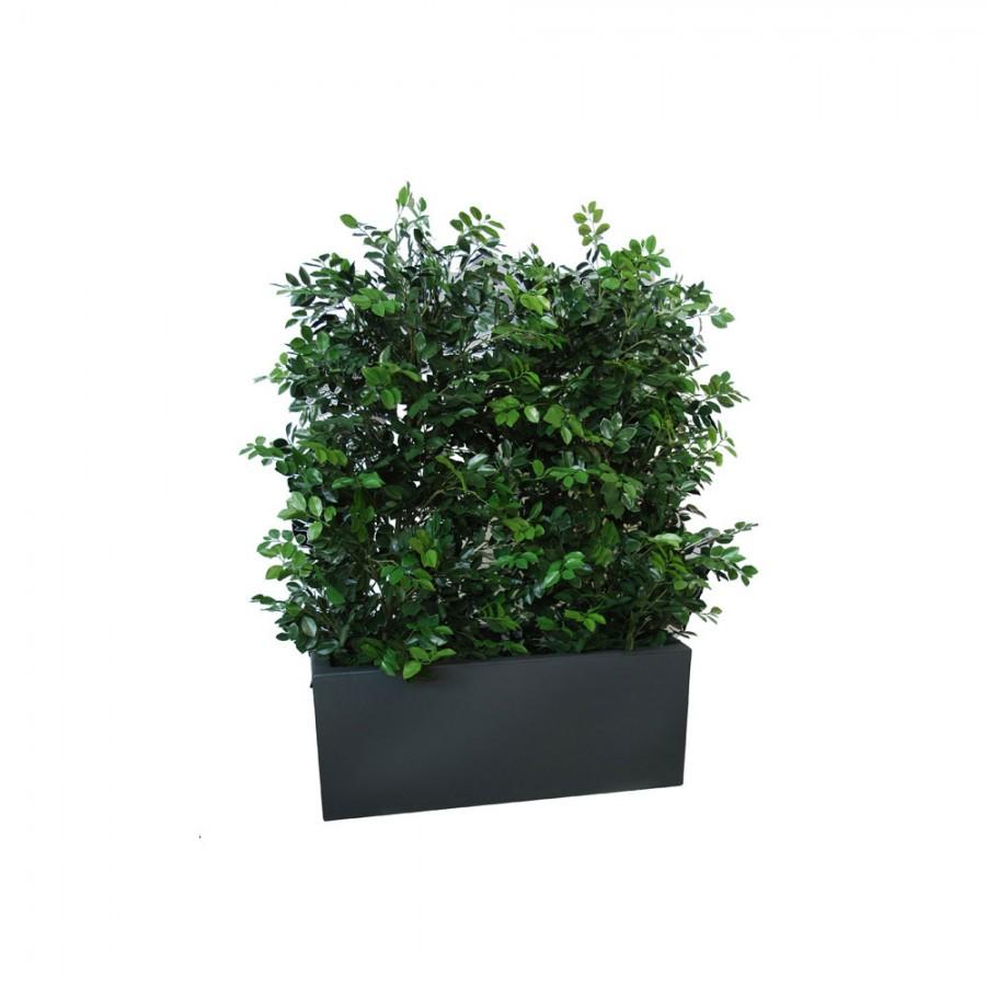 Planta semi-artificiala Ila, Ficus Ginseng UVR Fence Green - 160 cm