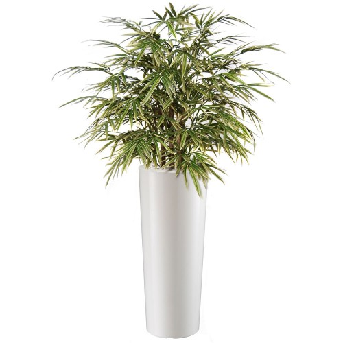 Planta semi-artificiala Ila, Bamboo Japanese Bush Variegated - 80 cm
