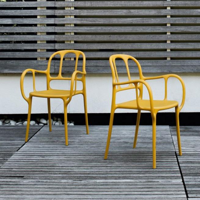 Scaun pentru dining, interior - exterior, Magis Milà