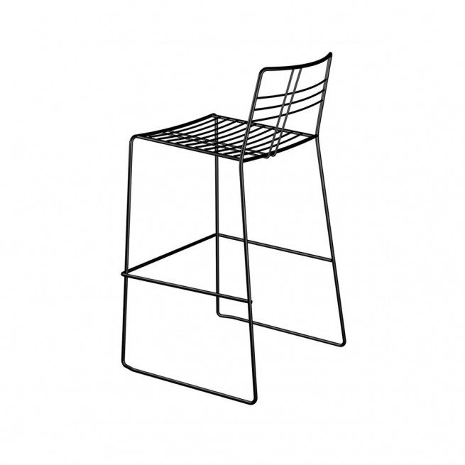 Scaun bar Della Valentina Office Tartan wire_stool