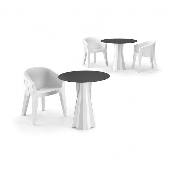 Masa uz comercial rotunda din polietilena Plust Frozen Dining Table