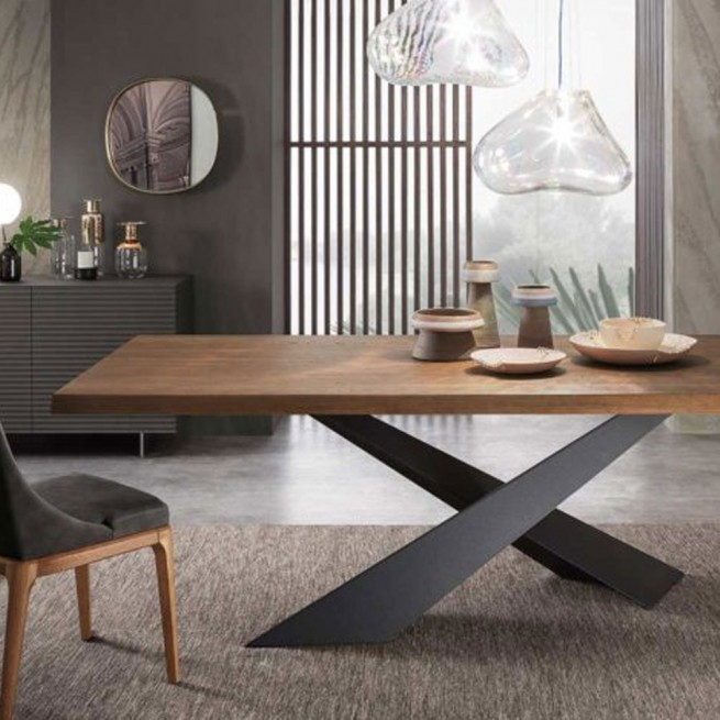 Masa dining Riflessi Living Wooden Table