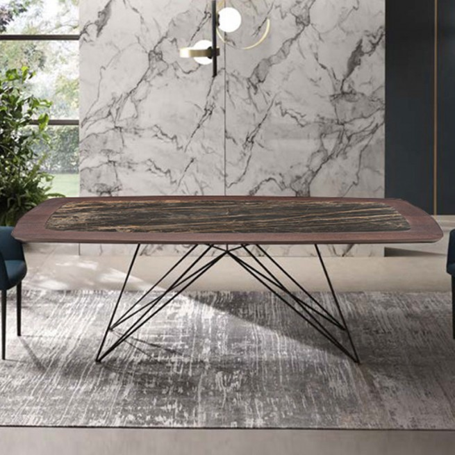 Masa dining Riflessi Pegaso Ceramic and Wood Table