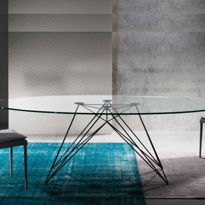 Masa dining Riflessi Pegaso Glass Table