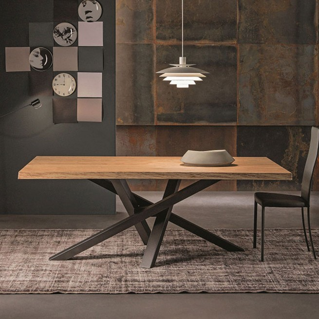 Masa dining Riflessi Shangai Wooden Table
