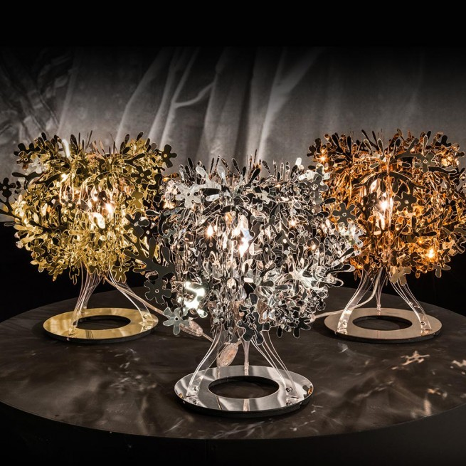 Corp de iluminat Slamp, veioza Fiorellina Gold, Silver, Copper Table