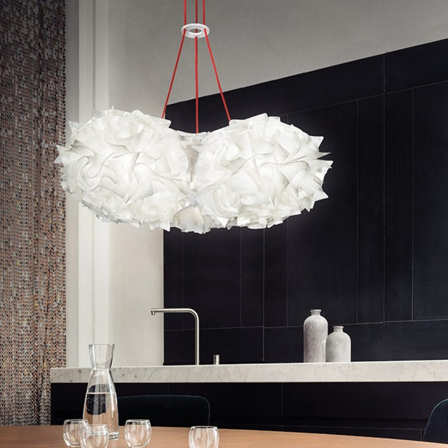 Corp de iluminat Slamp, lustra Veli Mini Trio Couture Suspension